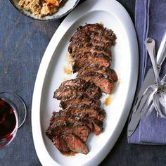 At the restaurant, Mark Sullivan marinates bavette (flank steak) in a blend of 12 Moroccan spices. At home, you can replace the bavette with juicy hanger steak, which is less expensive. Skip the spice blend; instead, boost the flavor of the meat by marinating it in garlic, cumin and olive oil.