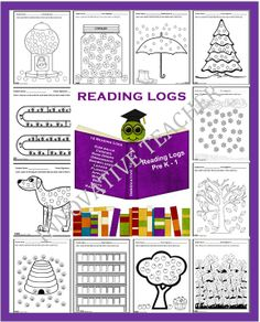 This is a fun way for your students to keep track of their reading each day. Included in this product are 12 reading logs with various themes. Each reading log has 30 objects for your younger readers to color.