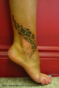 leopard tattoo on ankle | Leopard Tattoo On Ankle