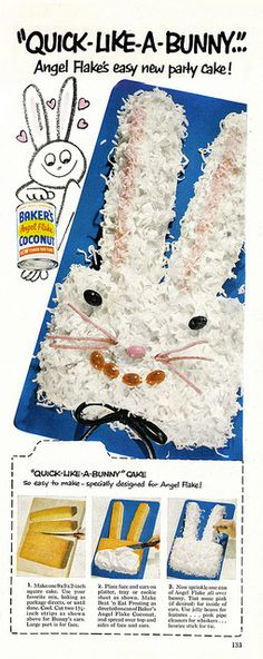 Bunny Cake  by Shelf Life Taste Test, via Flickr