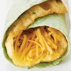 Breakfast in bed idea for Mother's Day! Make her an Herbed Omelet Wrap. Serve with some fruit, a glass of orange juice or a mug of her favorite coffee. Don't forget the flowers!