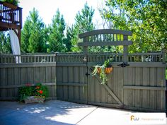 Privacy fence and gate.