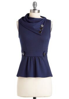 Coach Tour Top in Navy - I would want this in black