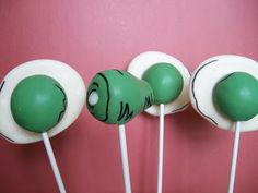 Green Eggs and Ham cake pops!