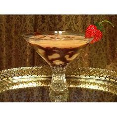 A Chocolatini using Libbey Nachtmann N78531 Bossa Nova 11.5 oz. Footed Martini Glass - 8 / Case