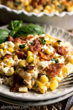 Creamy Corn and Bacon Casserole with Greek Yogurt...made tonight..we actually did not bake it..tasted awesome!!