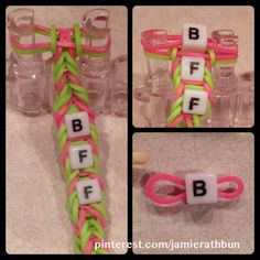 How to add beads to a fishtail rainbow loom bracelet.