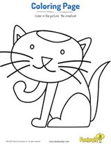 Kitty Cat Coloring Page