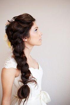 Thick, braided hair!