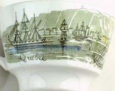 Heritage pattern by Ridgway Pottery - Quebec - side of cup