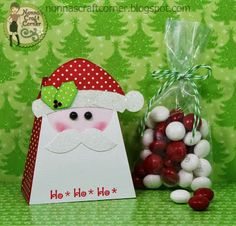 Santa treat box and Peppermint M&M's