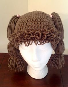 Crochet Cabbage Patch Kids hat