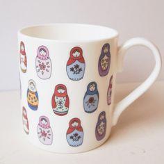 cup, matryoshka doll, little women, mari kilvert, russian doll, nest doll, babushka, matrioska, mugs