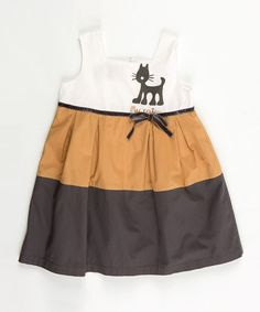 Take a look at this White & Brown Jungle Dress - Infant, Toddler & Girls by Lourdes on #zulily today!