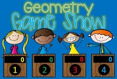 Geometry GAME SHOW - 1st & 2nd Grade w Contestants interactive ppt from TinyToes on TeachersNotebook.com -  (25 pages)  - Geometry Jeopardy Style Game Show for 1st & 2nd Grade