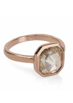 Modern diamond engagement ring