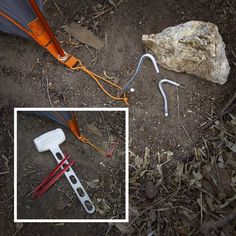When car camping, pack a mallet for banging in tent stakes. A rock may not always do the trick or be easy to find.