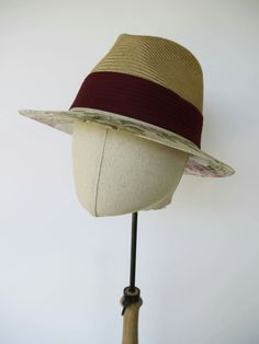 Fedora straw woman hat #hatmaker #modista #modisteria #millinery #milliner #couture #summer #estate #cappello #hat #straw #flower