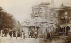 New Cross Toll Gate, c 1870. Situated in front of The White Hart, New Cross Gate, New Cross Road.