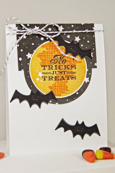 No Tricks Just Treats Card by Erin Lincoln for Papertrey Ink (August 2014)