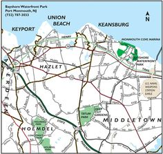 MAp to Bayshore PArk