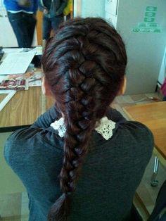 french braid tumblr girl.hair