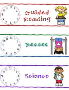 Time labels for school!