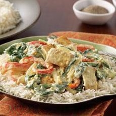 Saag with Tofu - Try this Indian favorite featuring tofu, spinach and ...