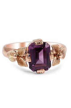 #ring #gold #purple #jewelry