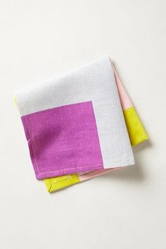 color block napkin.