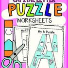 These fun alphabet puzzles will give your students practice with cutting, gluing and phonics skills. These puzzles will give your students practice...pre-K, Kindergarten