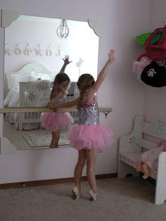 Ballet Mirror in a little girls room.