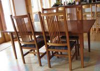 New England Shaker Dining Table in Cherry Wood.