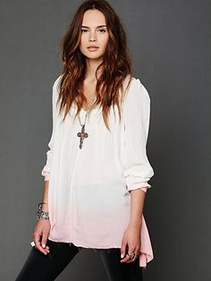 Dip Dye Long-Sleeve Tunic. http://www.freepeople.com/whats-new/l-s-dip-dye-tunic/