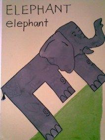 E is for elephant - great alphabet craft!
