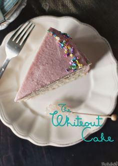 The {Pink} Whiteout Cake