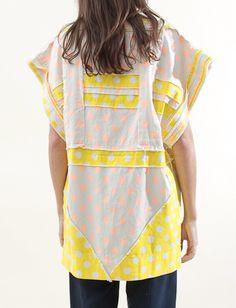 Bernhard Willhelm Polkadot Patchwork Dress - Beige/Yellow