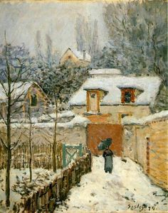 Alfred Sisley : Snow at Louveciennes, 1874.