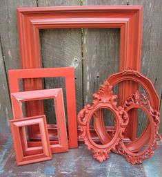 Coral Painted Frames  - DIY project