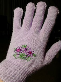 Sweet embroidered $ gloves great for a chilly Easter
