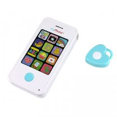 The Mirari myPhone is a toy cell phone for babies that allows parents to record their own voice message for baby to hear.