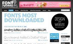 Font Squirrel, gran colección de fuentes de texto para descargar
