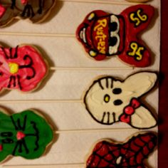 "Easter bunny cookie characters....""Cars"" & ""Spider-Man"""