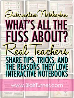 Interactive Notebooks: Tips, Tricks, and Why We Love Them ..from One Lesson at a Time (blog)