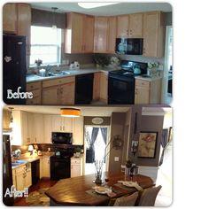 Rustoleum Cabinet Transformation (budget kitchen DIY)