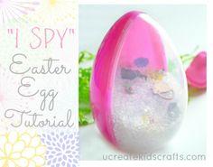 I Spy Easter Egg Tutorial at ucreatewithkids.com
