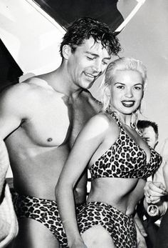 Mickey Hargitay (1926-2006) & Jayne Mansfield. He was Mr. Universe 1955 and later became an actor. He and Jayne Mansfield were married in 1958.