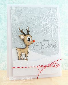 The little rudolph there is from Clearly Besotted Stamps' Merry Little Christmas set - bjl
