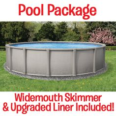 """Made in the USA! Matrix 54"""" Deep Round Above Ground Swimming Pool! Many sizes available for your backyard!"""