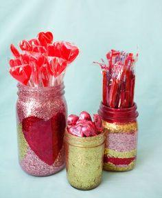 diy glitter jars